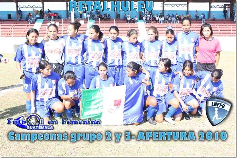 CAMPEONAS DE LOS GRUPOS II Y III DEL ASCENSO-APERTURA 2010 DE LA LNFFG