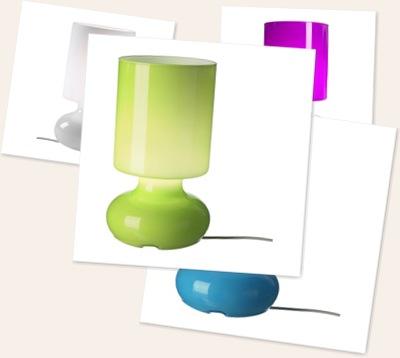 Visa ikea-lampa
