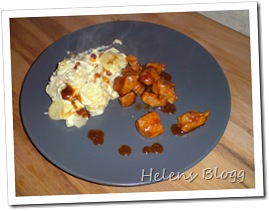 Potatisgratäng och marinerad kycklingfilé