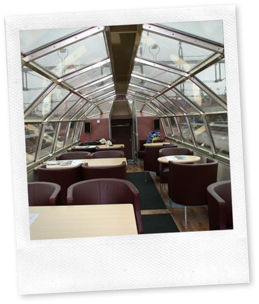 Restaurangvagn med panoramafönster