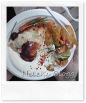 Cajunkryddad kyckling med Idaho potatis och chili- vitlökssås