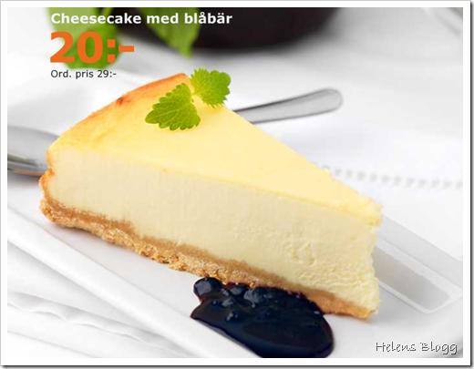 Cheesecake med blåbär