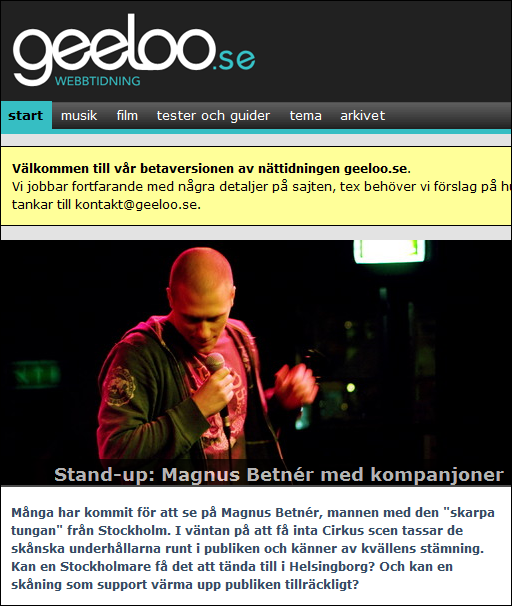 Min recension av Standup med Magnus Betnér