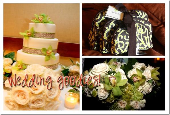 wedding goodies collage