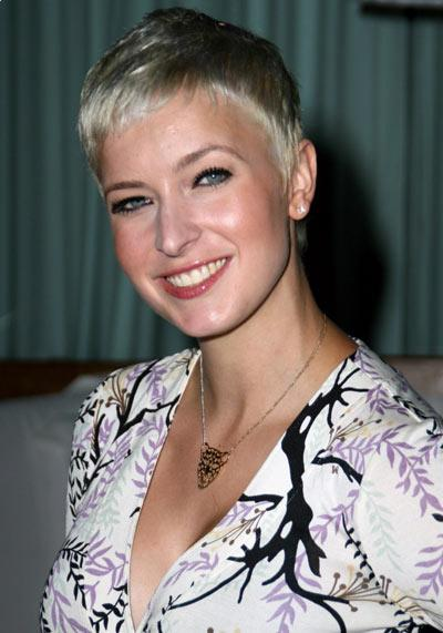 Diablo Cody short blonde hairstyle