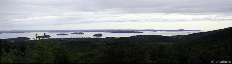 From a little further up; Bar Harbor