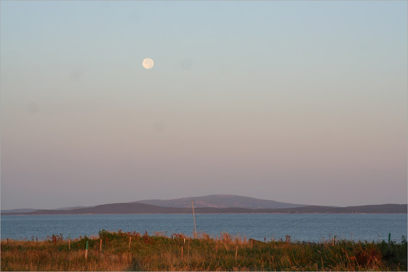 Moonset over Cadillac Mtn.