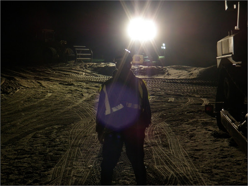 Me at the work site. I watned the backlighting but the glare spot could go away.