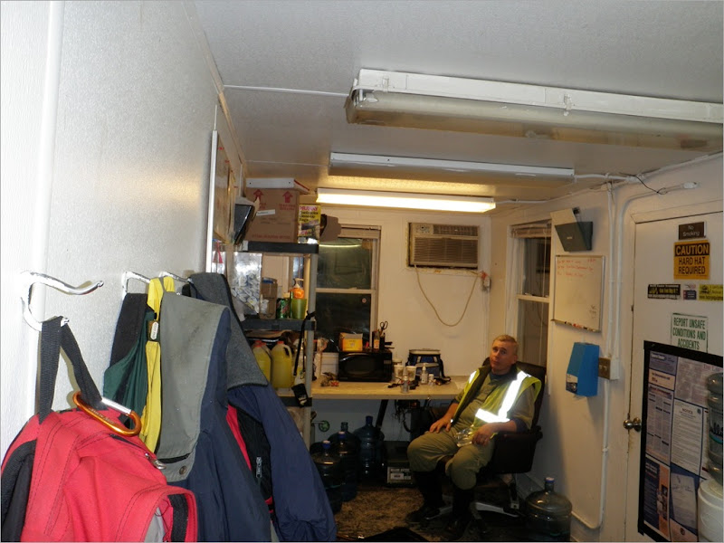 the inside of the dump shack, yes that is me and the expression is bordem