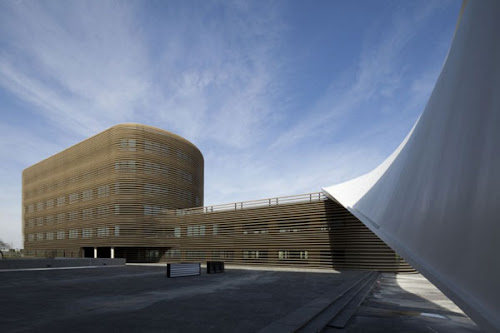 Twisted Modern GalilA e Office Building in Toulouse