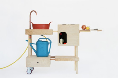 Stylish and Practical Mobile Outdoor Kitchen That You Can Make By Yourself