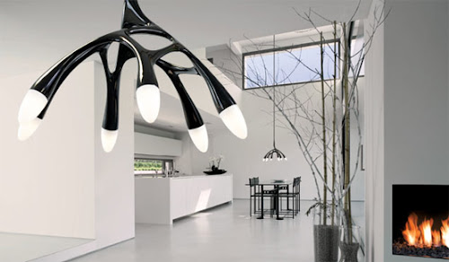 Pendant LED Lamp That Reminds Futuristic Antler Chandelier   NLC by Next
