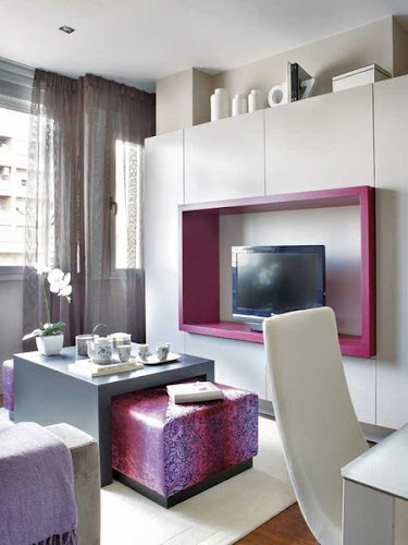 Cozy Interior of 45 Square Meter Apartment With Pink Accents