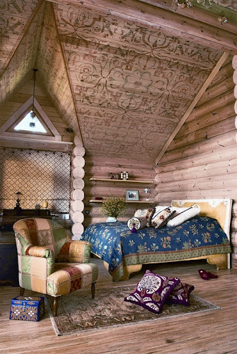 Large Siberian House In Eclectic Style