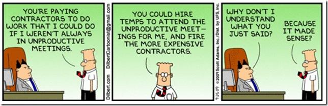 Dilbert - Reuniões improdutivas