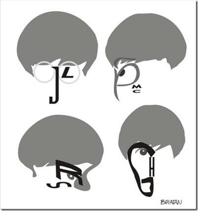 Biratan - Caricaturas de letras - Beatles