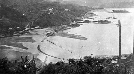 Opening of the British section of the Kowloon-Canton Railway view of Tai Po 1 October 1910