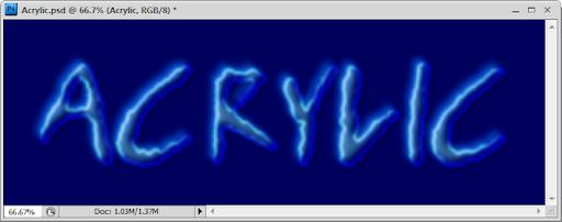 เทคนิคการสร้างตัวอักษร Acrylic [Text Effect] Acrylic34