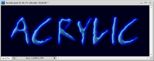 เทคนิคการสร้างตัวอักษร Acrylic [Text Effect] Acrylic37