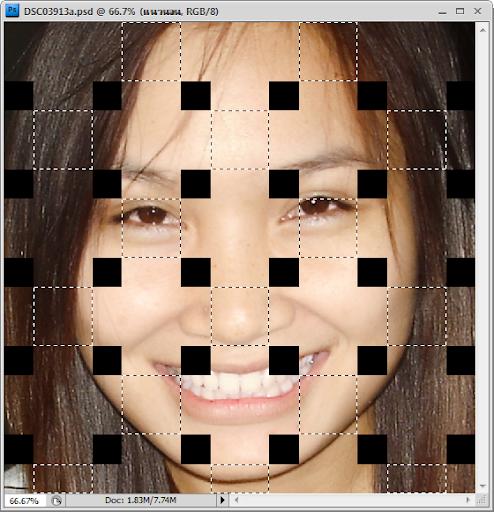 เทคนิคการทำภาพแบบ Interweaving Photo Strips [Photo Effect] JStrips21