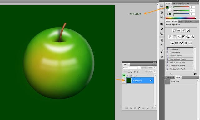 เทคนิคการวาดรูปแอบเปิ้ลสวยๆ Apple55