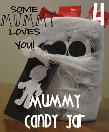 4 Mummy Candy Jar