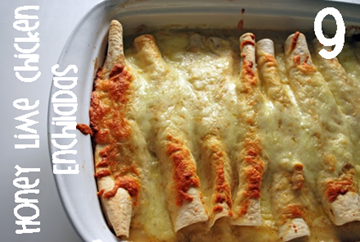 9 Chicken Enchiladas