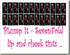sevenfold kiss lip and cheek tints