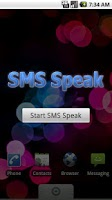 Screenshot of SMS Speak