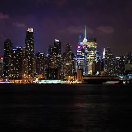 NYC by Todd Radney - City,  Street & Park  Night ( night life, city lights, new york city, new york, nyc )
