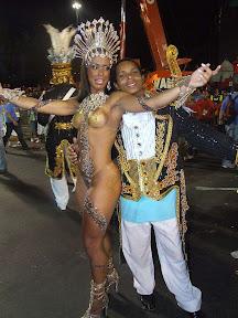 Belle ragazze Brasiliane nel Carnevale di Rio de Janeiro Brasil