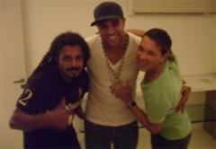 02 - Adriano, Falcão e David Santiago, na sua festa de aniversário-redimensionada