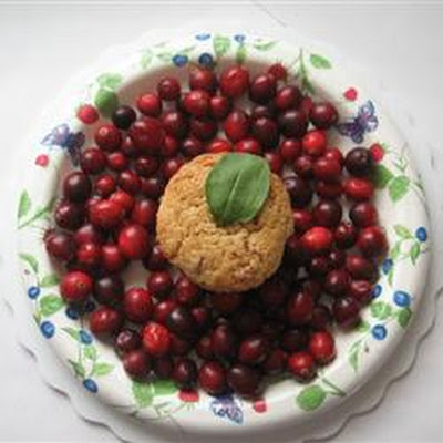 Apple-Filled Cranberry Muffins