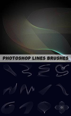 Lines Shapes - Photoshop Lines Brushes