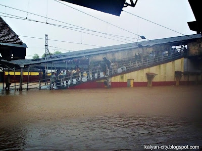 railway station flood water