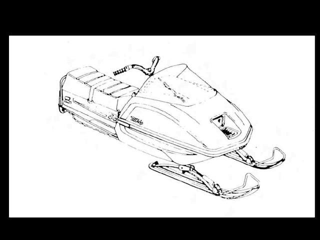 scorpion whip snowmobile part manuals 95pgs for 1975 1976 1977 340 440 repair