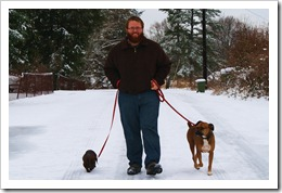 Jake walking dogs