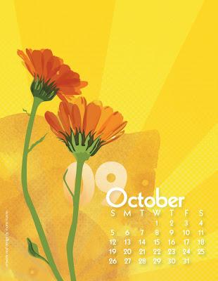 Oct Calendula Calendar