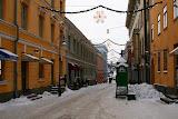 Безлюдные улочки в центре Хельсинки.