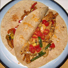 Mark's Low Fat Chicken Fajitas