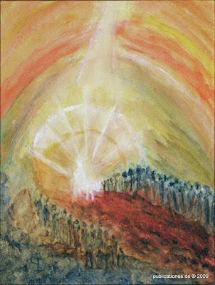 Gerda Dittmann 'Einzug in Jerusalem', Acryl auf Leinwand