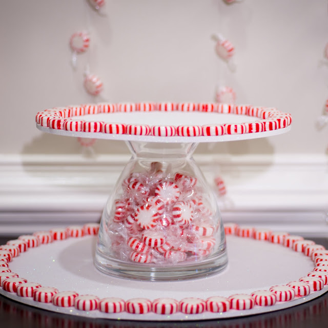 peppermint cupcake stand tutorial