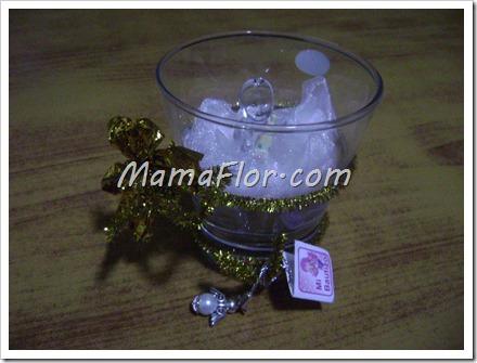 Como hacer un recordatorio de bautizo con vasos de vidrio