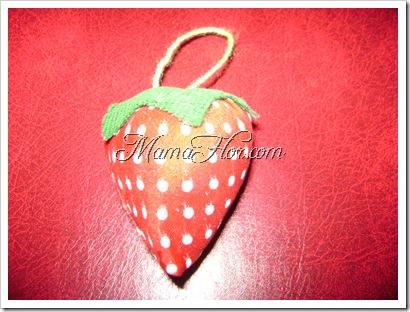 Como hacer un adorno en forma de fresa