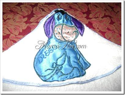 Como decorar la toalla del bebe