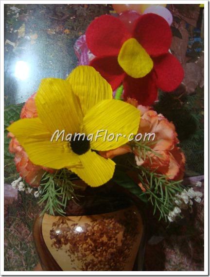 Como hacer flores con panca de maiz