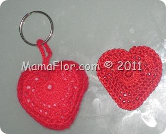Llavero de Corazón Tejido a Crochet | Regalos de Amor para este 14 de febrero