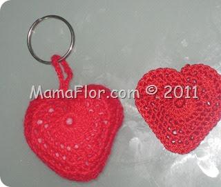 Llavero de Corazón Tejido a Crochet   Regalos de Amor para este 14 de febrero
