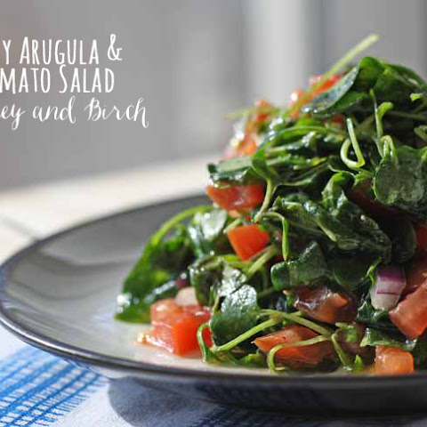 Baby Arugula and Tomato Salad