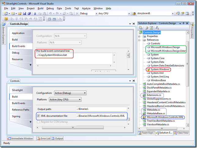 Silverlight.Controls.Design.csproj in Visual Studio